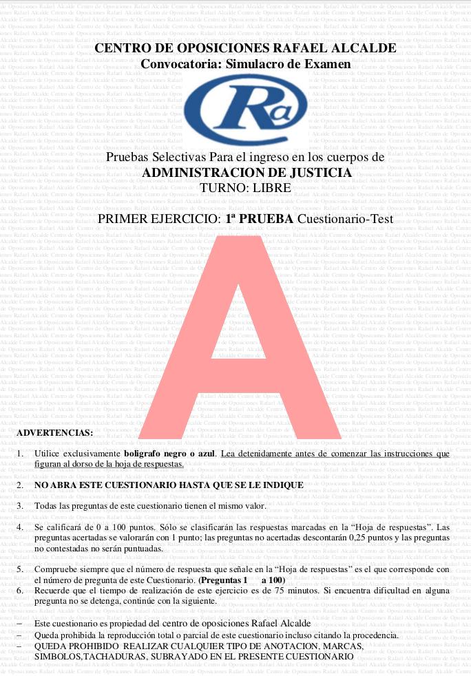 Plantilla Provisional Corrección Examen Tramitación Procesal Y Administrativa 3 De Julio 2016